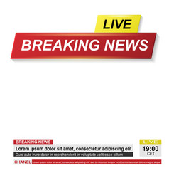 breaking news white background vector image