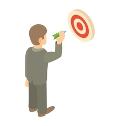 Businessman aiming at target icon vector image