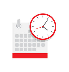 Calendar and clock icon schedule vector