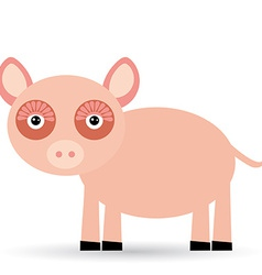 Cartoon of a pig on a white background vector image