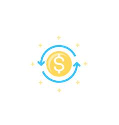 Cashback icon vector