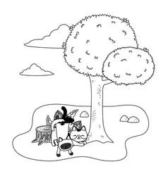 Cats cartoons design vector