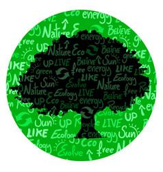 circle oak vector image