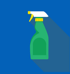 cleaning bottle spray icon flat style image vector image