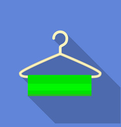 clothes hanger icon flat style vector image