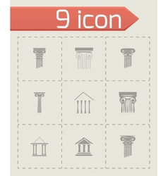 coloumn icons set vector image