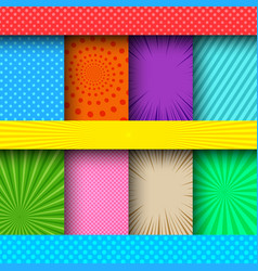 comic colorful frames composition vector image