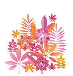 Concept abstract tropical design element vector