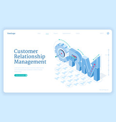 customer relationship management banner vector image