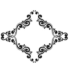 decorative frame monogram border vector image