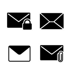 email envelope mail simple related icons vector image