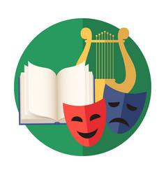 Emblem of creativity or art literature poetry vector