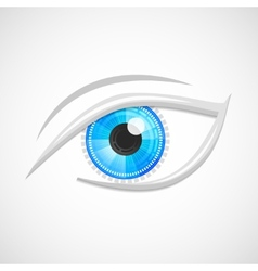 Eyes icon hi-tech vector