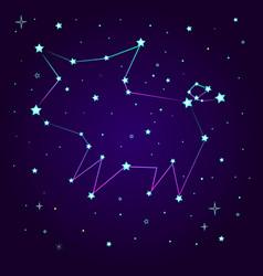 Fantasy constellation a pig vector