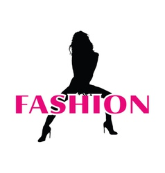 fashion and black girl silhouette vector image