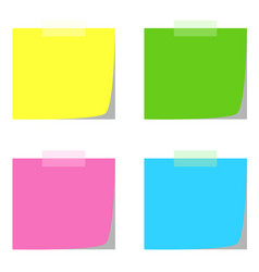 four note papers in multiple colors vector image