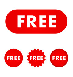 free red button free icon free sign vector image