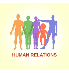 Full length front human relations vector