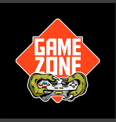 Game zone sign logo design vector