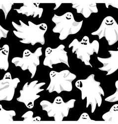 gosts halloween background spookys holiday vector image
