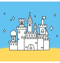 Hand drawn doodle castle vector image