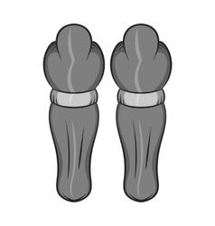Hockey knee pads icon black monochrome style vector image