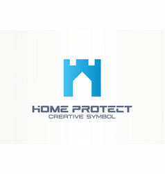 home protect creative security symbol building vector image