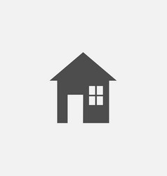 house flat symbol icon for web in trendy flat vector image