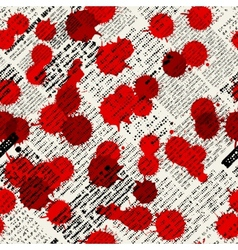 Imitation of newspapers stained with blood vector