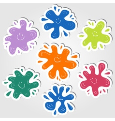 Ink blots stickers vector