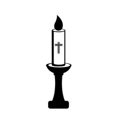 isolated paschal candle icon vector image