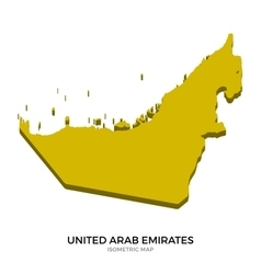 Isometric map of United Arab Emirates detailed vector