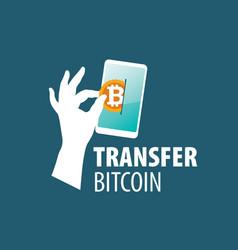 logo bitcoin money transfer vector image