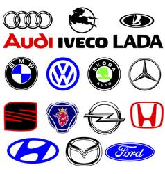 Logos cars vector