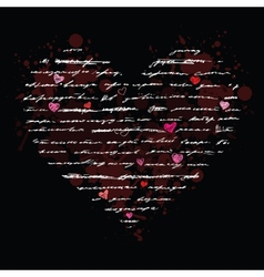 Love Handwriting card vector image vector image