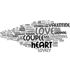 lovely word cloud concept vector image