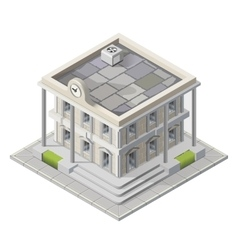 mayoralty isometric building vector image