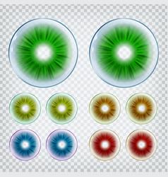 Medical stylish contact optical lenses set vector