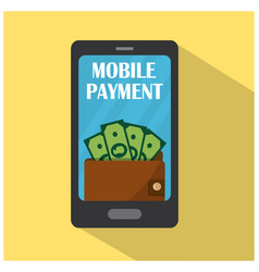 mobile phone with wallet and money vector image