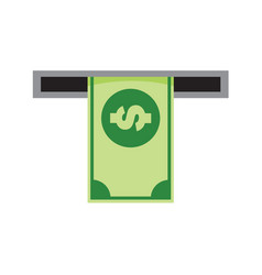 Money withdrawal machine graphic vector