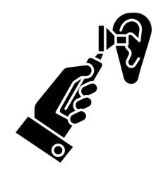 otoscope ear - ent - otolaryngologist - doctor vector image