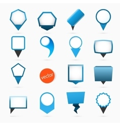 Pointers labels graphics blue variant vector image