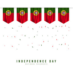 Portugal independence day template design vector