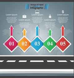 road business infographic five items vector image