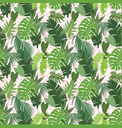 seamless ethnic tropical pattern vector image