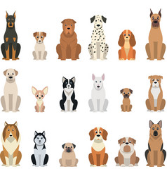 Set dogs vector