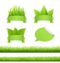 Set Grass vector