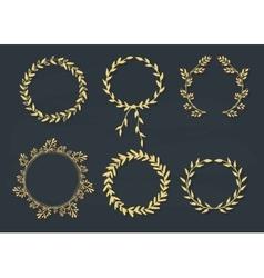 Set of laurel wreaths vector image