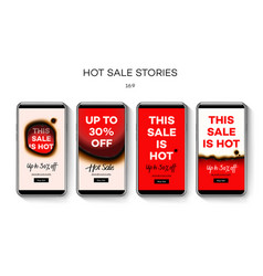 set of stories hot sale templates year end sale vector image