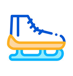 skates icon outline vector image